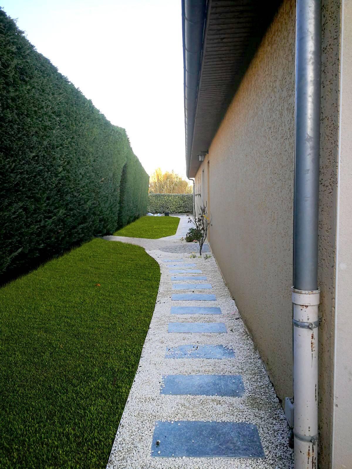 création ou rénovation d'allées, chemin, passage avec terrassement à