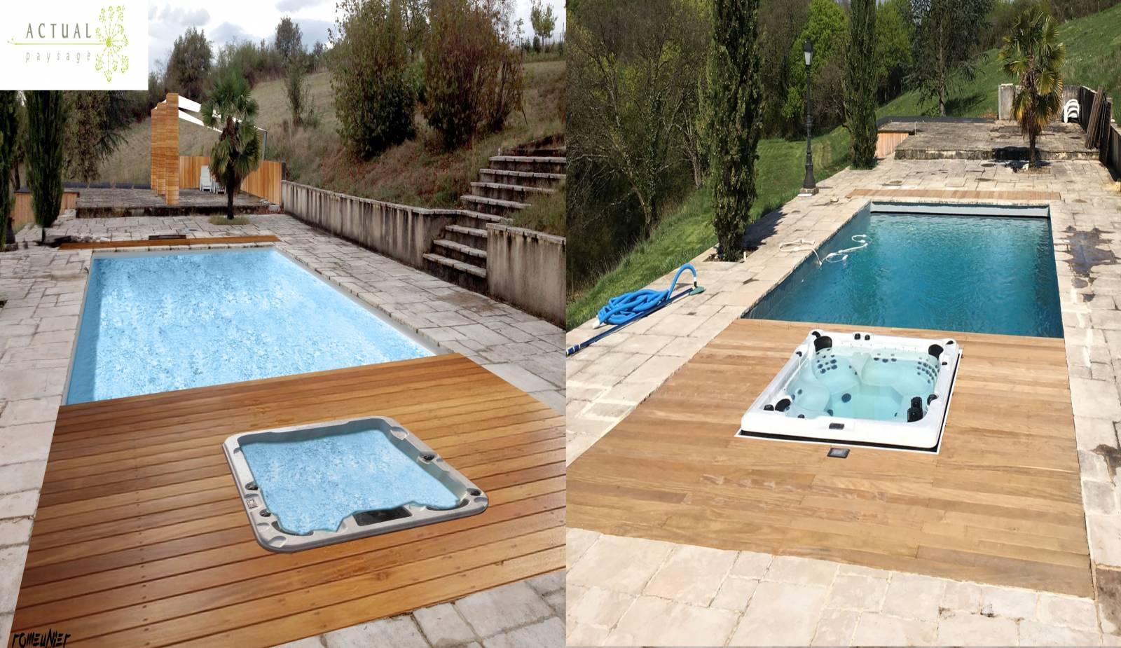 r alisation d 39 une terrasse en bois autour d 39 une piscine chuzelles actual paysage. Black Bedroom Furniture Sets. Home Design Ideas